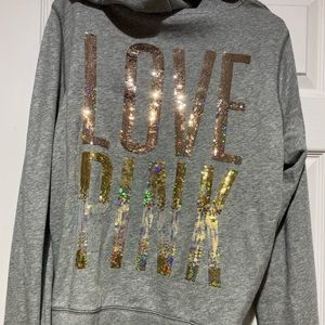 VS PINK zipper hoodie size large